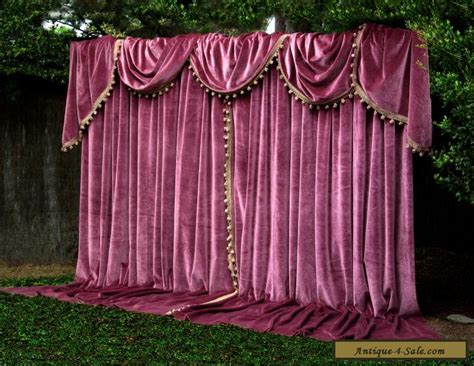 apt german velvet vintage curtains swags tails