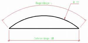Kreisausschnitt Radius Berechnen : bogenl nge sehne radius plauderecke heisse eisen foren auf ~ Themetempest.com Abrechnung