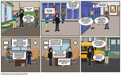 Bullying Comic Strip Anti Template Storyboard Slide