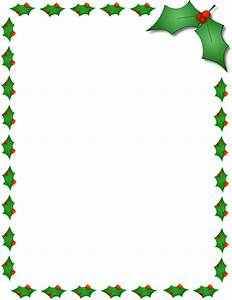 Christmas Holly Border Page Clip Art Download