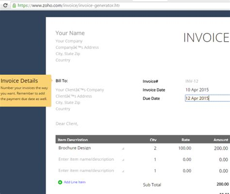 websites  create invoices   invoice templates