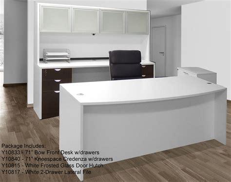 furniture bureau desk white woodgrain 4 office furniture package