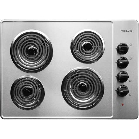 electric frigidaire cooktop stainless steel coil burners controls drop wayfair appliances select ready heating elements cooktops whirlpool kitchen appliance chrome