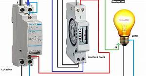 Electrical Diagrams  Contactor With Timer