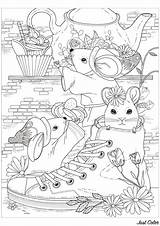 Mouse Coloring Pages Children Adult Printable Justcolor sketch template