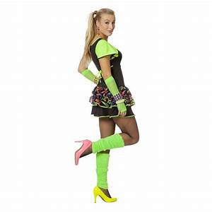 802543442da d guisement femme robe ann es 80 fluo happy fiesta lyon. deguisement  costume robe tenue adulte disco ...