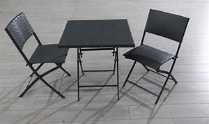 Salon De Jardin Pliant : table et chaise de jardin 2 personnes bricolage maison ~ Dailycaller-alerts.com Idées de Décoration