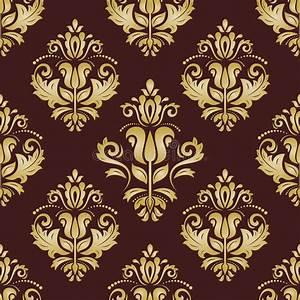 damast nahtloses goldenes muster orient hintergrund stock With markise balkon mit orient tapeten muster