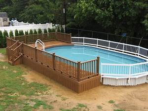 Backyard patio ideas with above ground pool images for Above ground swimming pool deck designs