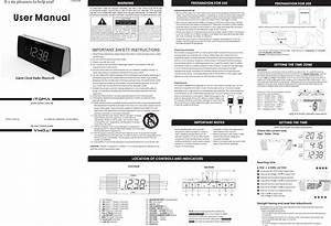 Itoma Itcks503 Alarm Clock Radio Bluetooth User Manual 2
