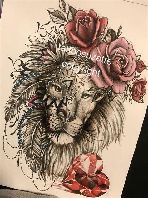 lion tattoo design mandala tattoos lioness tattoo