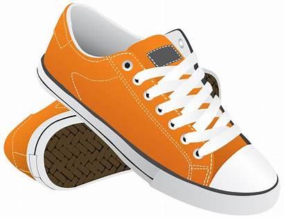 Shoes Transparent Clipart Sneakers Orange Shoe Sneaker