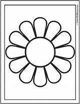 Daisy Coloring Simple Colorwithfuzzy sketch template