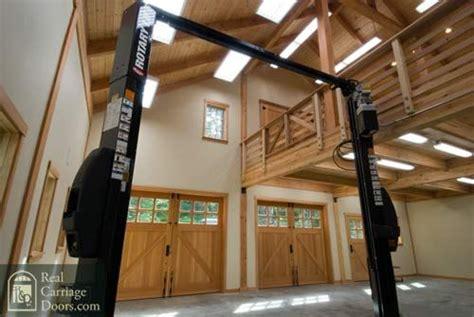 garage doors  swing  motorized garage interior
