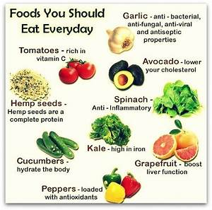 foods you should eat every day health messages and tips
