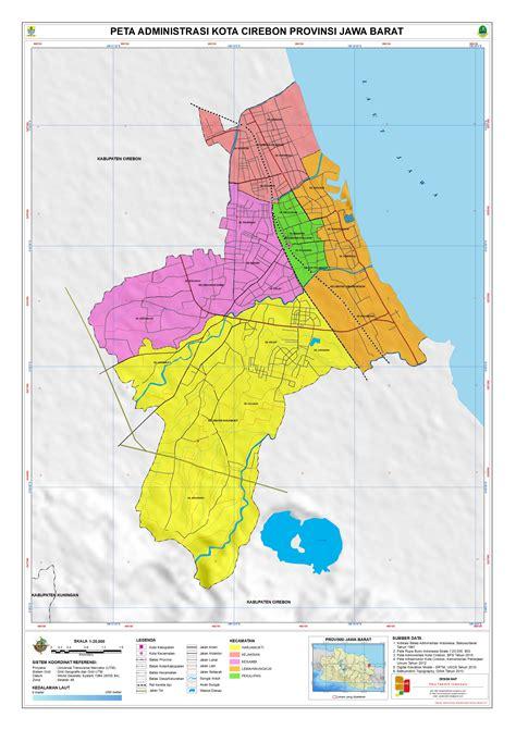 administrasi kota cirebon peta tematik indonesia