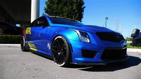 Lowered Cadillac Ats by Custom Cadillac Ats V Review And Exhaust Sounds