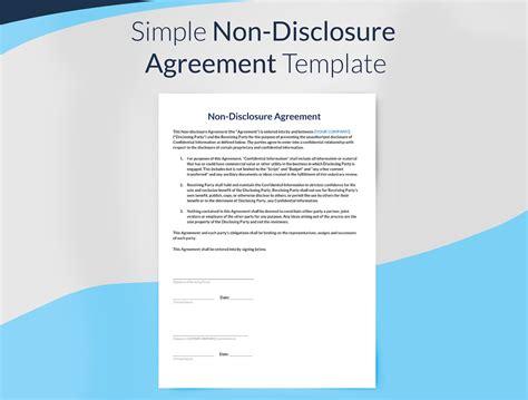 Nda Non Disclosure Agreement Template Costumepartyrun