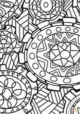 Coloring Abstract Doodle Printable Paper Games Drawing sketch template