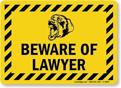 Lawyer Funny Beware Signs Dog Danger Sharks
