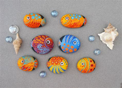 craft ideas for new fish painted stones a photo on flickriver 3832