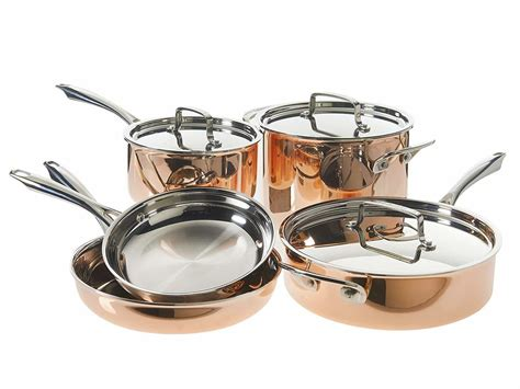today  cuisinart  piece copper tri ply cookware set   shipped  amazon