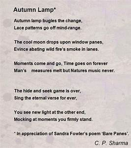 Autumn lamp poem by c p sharma poem hunter for Lamp light poem