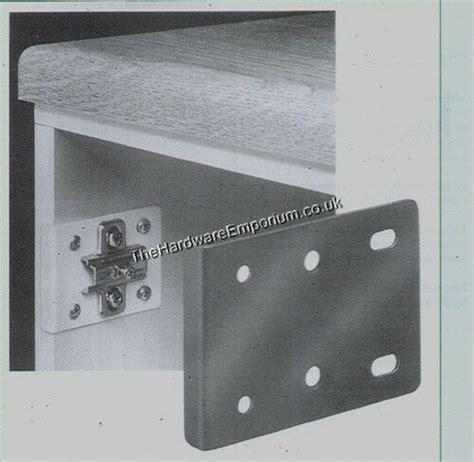 hinge repair plate kitchen unit cupboard door white