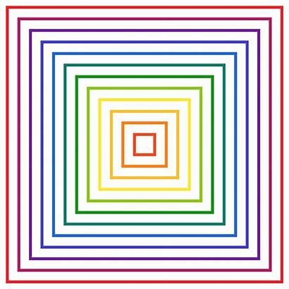 Transparent Square Math Rainbow Trippy Geometry Motion