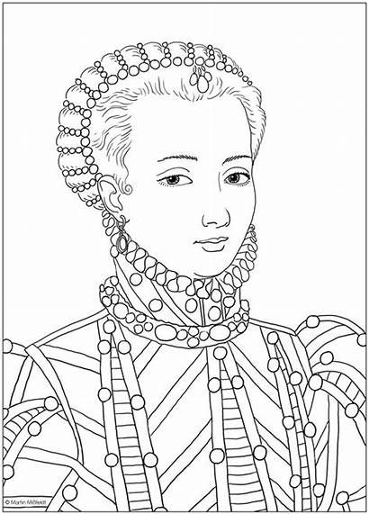 Marie Antoinette Coloring Martin Historical Pages Books