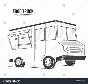 Silhouette Truck Fast Food Delivery Transportation Stock ...