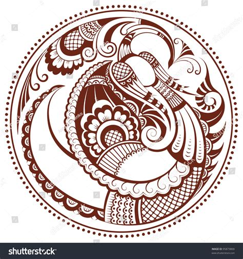 The mythical phoenix animal totem is the keeper of the fire in all of creation. Abstract Phoenix Bird Vector Paisley Background Stock ...