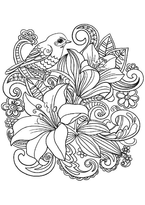 The Best Flower Adult Coloring Pages Flower Bouquet with a
