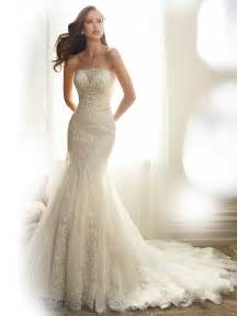 best wedding dress fit and flare wedding dress with strapless neckline