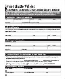 Transport Bill Sle by Sle Dmv Bill Of Sales 6 Free Sle Exle Format