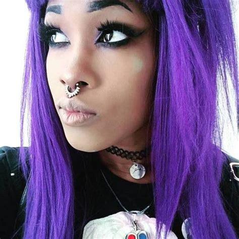 Black And Purple Emo Hair Tumblr