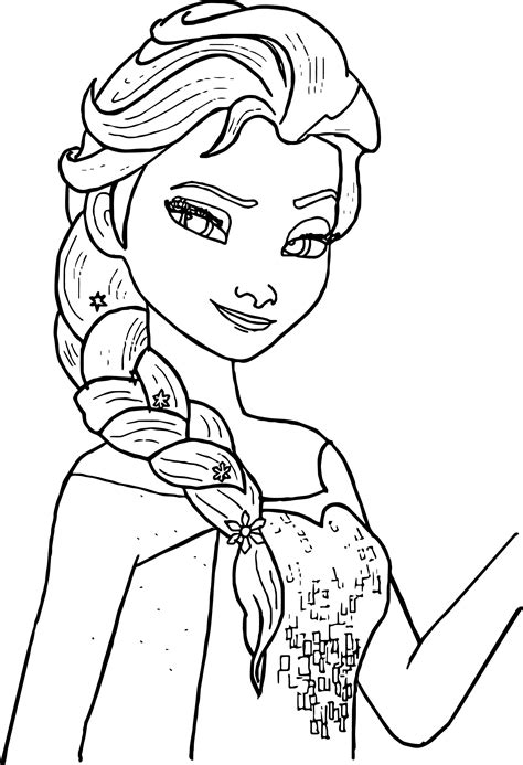 Coloring Elsa by Free Printable Elsa Coloring Pages For Best