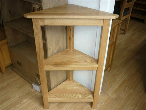 The New Vancouver Style Oak Corner Shelving Unit Sal028