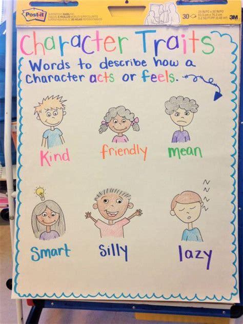 character traits chart    kindergarten anchor