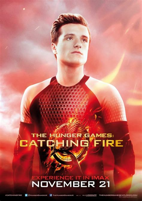new catching fire peeta poster the hunger games news
