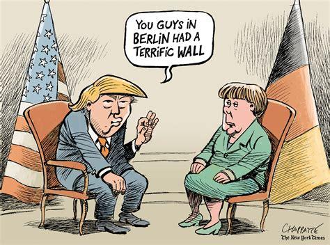 Angela Merkel Meets Donald Trump