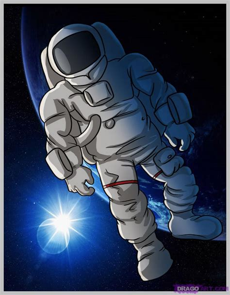 astronaut in space drawing how to draw an astronaut step by step figures