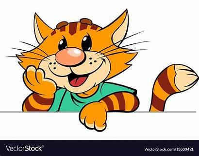 Vectorstock Cartoon Vector Cat Stripped