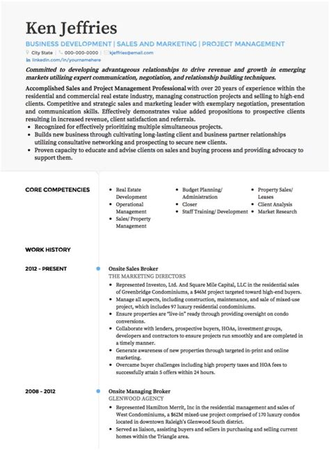 project manager cv examples  template