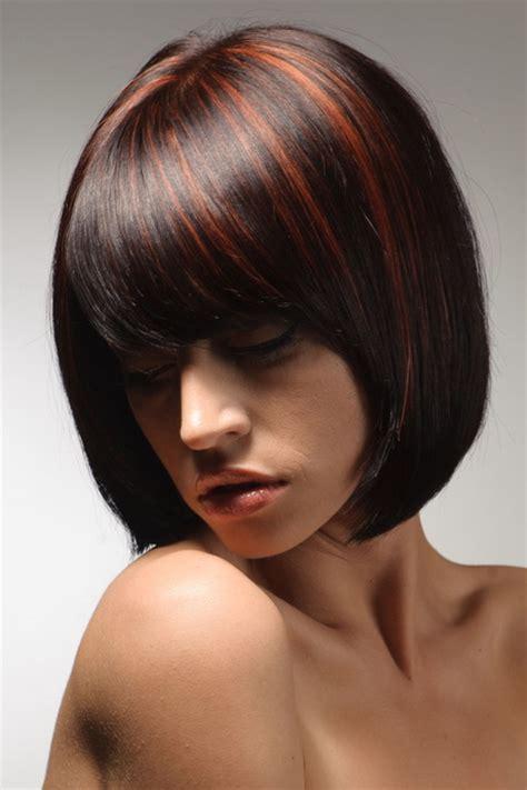 braune haare mit roten strähnen haare mit str 228 hnchen
