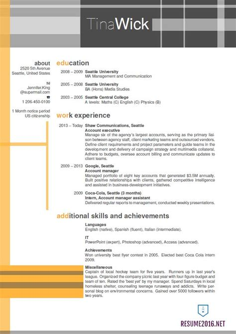 updated resume format 2016 updated structure