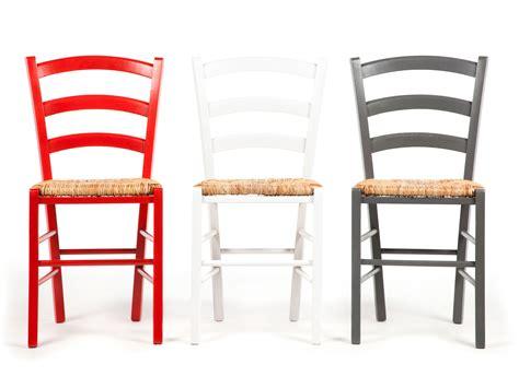 cuisine en hetre massif chaise en bois avec assise en paille lot de 2 palma
