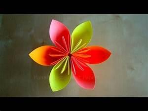 Blumen Basteln Kinder : origami blume basteln mit papier diy bastelideen geschenke basteln youtube ~ Frokenaadalensverden.com Haus und Dekorationen