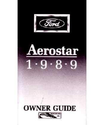ford aerostar owners manual