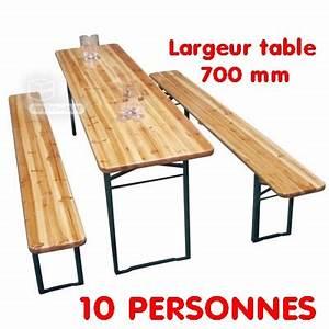Table Et Banc De Jardin : table 10 personnes banc de jardin 2200 x 700 x 760 mm 2 me choix plein air camping ~ Teatrodelosmanantiales.com Idées de Décoration